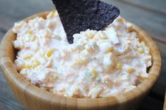 Jalapeno Corn Dip: easy to mix together for your next party dip!