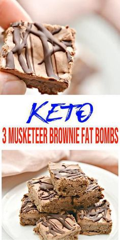 Keto fat bombs you wont be able to pass up! {Easy} low carb keto fat bomb recipe for the best 3 Musketeers candy brownie Low Carb Desserts, Low Carb Recipes, Dessert Recipes, Entree Recipes, Lunch Recipes, Breakfast Recipes, Healthy Recipes, Keto Fat, Low Carb Keto