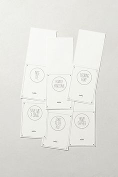 How Dapper Place Cards - Mr. Boddington's Studio