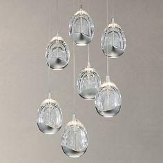 Buy John Lewis Droplet LED Pendant Ceiling Light, 7 Light, Chrome Online at johnlewis.com