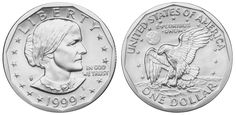 Dólar americano (1785-em uso) (x) 1 dólar (1979-1999) O: efígie de Susan B…