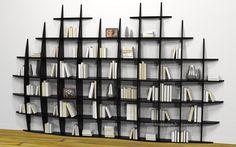 Wooden Shelf Design, Wooden Shelves, Deco Design, Wall Design, House Design, Bookshelves, Bookcase, Bibliotheque Design, Etagere Design
