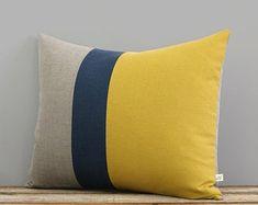 Fall Home Decor, Autumn Home, Linen Pillows, Decorative Pillows, Bed Linen, Navy Bedding, Bedding Sets, Lino Natural, Long Pillow