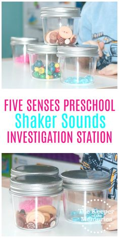 Five Senses Preschool Sound Jars Investigation Station