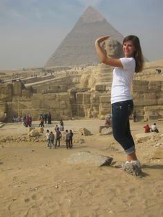 DG Junior Madison from GW University gammaing the Sphinx!! Awesome!
