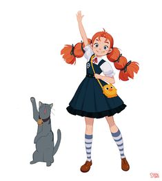 """ArtStation - New project - Spiraling Witch Encyclopedia """"Annie"""", Hong SoonSang Character Design Animation, Fantasy Character Design, Character Design References, Character Drawing, Character Design Inspiration, Character Concept, Simple Character, Character Sketches, Dibujos Cute"""