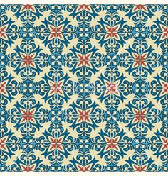 Seamless vintage floral pattern vector on VectorStock®