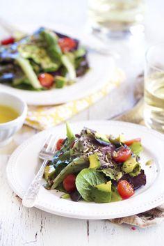 Epicurean Mom: SuperSeed Green Salad with Honey Lemon Vinaigrette