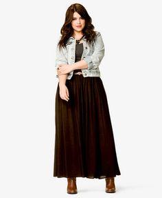 Side Slit Maxi Skirt w/ Belt | FOREVER 21 - 2027100725