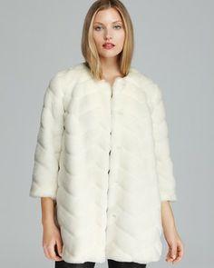 Sam Edelman Coat - Luci Chevron Faux Fur on shopstyle.com