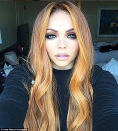 Red hot: Jesy Nelson was certainly on fire with her new ginger locks, showing off her bright new hairdo on Instagram