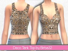 A precious top embroidered with small stones. Found in TSR Category 'Sims 4 Female Everyday' Sims 4 Tsr, My Sims, Embellished Top, Female, Formal Dresses, Gold, Clothes, Fashion, Dresses For Formal