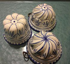 Vintage Ceramic Molds  wall decor SET OF 3 by LosChapines on Etsy, $20.00