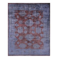 Shop Pasargad  29604 Oushak Overdyed Red Hand-Knotted Lamb's Wool Area Rug at The Mine. Browse our area rugs, all with free shipping and best price guaranteed.