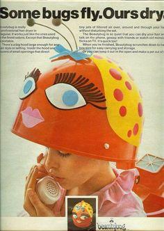 -- vintage hair-dryer ad -- this is so cute Retro Ads, Vintage Advertisements, Vintage Ads, 1960s Advertising, Vintage Newspaper, Vintage Crafts, Vintage Labels, Vintage Posters, Vintage Style