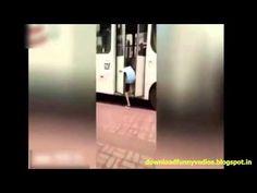 Funny Boy Plays Prank, Stops Bus To Tie Shoelaces