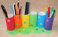 21 Cool School Supplies We Really, Really Want - Kar Trends Diy Crafts For Girls, Toddler Crafts, Crafts To Do, Diy For Kids, Arts And Crafts, Car Crafts, Paper Towel Roll Crafts, Toilet Paper Roll Crafts, Cardboard Crafts