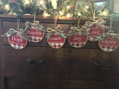 Excited to share this item from my shop: Farmhouse ornaments Embroidered Christmas Ornaments, Christmas Ornament Crafts, Christmas Wood, Christmas Gift Tags, Christmas Tree Ornaments, Holiday Crafts, Christmas Ideas, Nutcracker Ornaments, Etsy Christmas