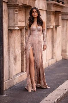 Rose Gold Formal/Prom Gown - Alamour The Label Pretty Prom Dresses, Ball Dresses, Elegant Dresses, Sexy Dresses, Cute Dresses, Beautiful Dresses, Fashion Dresses, Girls Dresses, Sparkly Outfits
