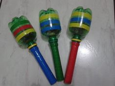 Kids Crafts, Daycare Crafts, Arts And Crafts, Music Instruments Diy, Homemade Musical Instruments, Maracas Craft, Baby Learning Activities, Craft From Waste Material, Diy Plastic Bottle