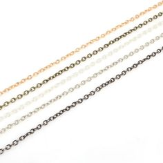 10 mètres câble ton argent chaîne de bijoux 4 x 3 mm collier de gros en vrac