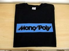RETRO SYNTH T SHIRT SYNTHESIZER DESIGN MONOPOLY S M L XL XXL BLUE