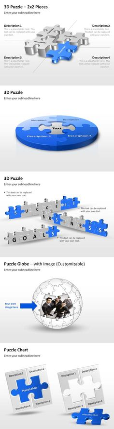 Attractive PowerPoint puzzle templates for business presentations #powerpoint #business #presentation