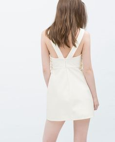 DRESS WITH LACE-UP SIDES from Zara