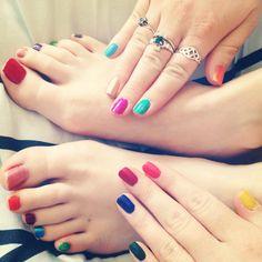 Multicolour nails :-)