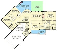 Affordable Gable Roofed Ranch Home Plan - 15885GE | 1st Floor Master Suite, Bonus Room, Butler Walk-in Pantry, CAD Available, Corner Lot, Craftsman, Den-Office-Library-Study, Jack & Jill Bath, Loft, Mountain, Multi Stairs to 2nd Floor, PDF, Photo Gallery, Ranch, Split Bedrooms | Architectural Designs