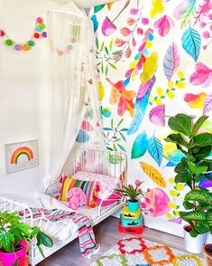 explosion colors wallpapers removable coloraydecor cool bedroom rainbow rooms colorful mural murals bedrooms kid toddler peel floral dortgun