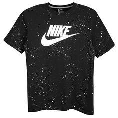 4b067a33802b Nike Graphic T-Shirt - Men s - Casual - Clothing - Dark Grey  Heather Black White