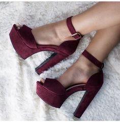 Imagen de shoes, heels, and maroon