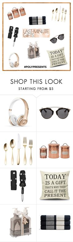 """#PolyPresents: Last-Minute Gifts"" by kirraleepearce3 ❤ liked on Polyvore featuring Christian Dior, Towle, Kate Spade, James Perse, contestentry and polyPresents"