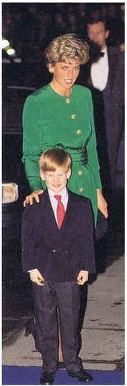Diana and her 6 year old son, Prince Harry, had an evening out together when they attended the Mountbatten Festival Of Music, at the Royal Albert Hall.