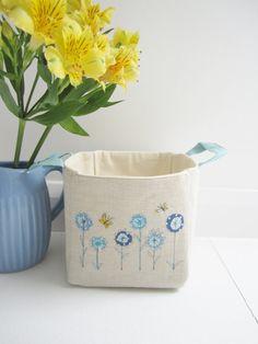 Blue Cornflower Basket by ambersparkle88 on Etsy