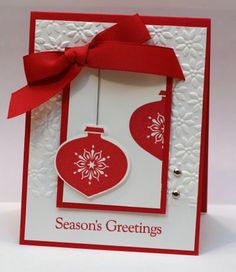 Stampin' Up! Delightful Decorations with the use of Stampin' Up! Big Shot (for embossed texture)