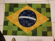 Bandeira do Brasil em patchwork