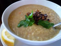 Lebanese-Style Red Lentil Soup Recipe   Food   Pinterest   Red Lentil ...