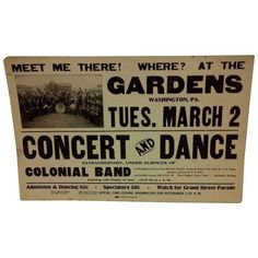 Concert & Dance Poster Gardens Black Americana Concert & Dance Poster ($275) ❤ liked on Polyvore featuring home, home decor, wall art, posters, dance posters, black poster, garden wall art, black home decor and garden poster