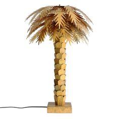 HK-living Tafellamp Palm goud messing 45x45x68cm - wonenmetlef.nl