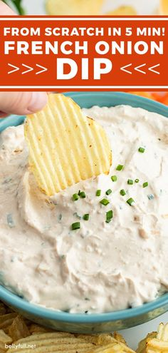 Homemade French Onion Dip, French Onion Dip Recipe From Scratch, Dip Recipes, Snack Recipes, Yummy Appetizers, Appetizer Recipes, Easy Chip Dip, French Snacks, Recipes