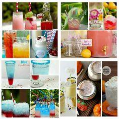 Bebidas coloridas para festas infantis. Confira os produtos para bebidas em nossa loja: http://www.aluafestas.com.br/enfeites-para-drinks…