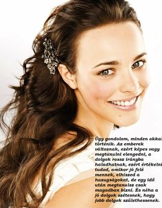 """The Canadian artist, 'Rachel McAdams' is a real brunette. She initially worked in some television programs and filmRead More """"Rachel Mcadams Hairstyles"""" Loose Curls Wedding, Long Loose Curls, Half Up Wedding Hair, Soft Curls, Messy Curls, Soft Waves, Loose Waves, Rachel Mcadams, Wedding Hairstyles"""