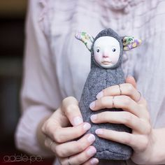 Stuffed cute doll enchanted plush baby shower toy by adelepo