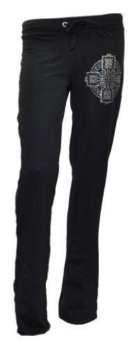 Loravicci Womens Black W/Gold Glitter Design Yoga Pant (Small) Loravicci. $8.99