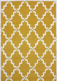 $186 - (5x8) yellow rug - comes in blue, green, orange, grey and brown