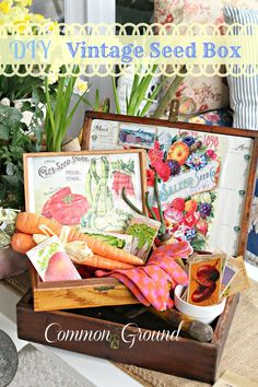 Make Your Own Vintage Seed Box!