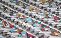 A3, geometric paper cut piece