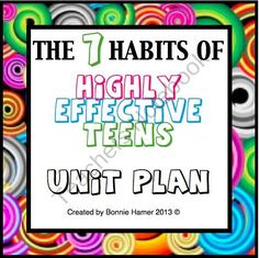 The 7 Habits of Highly Effective Teens Unit Plan product from Presto-Plans on TeachersNotebook.com